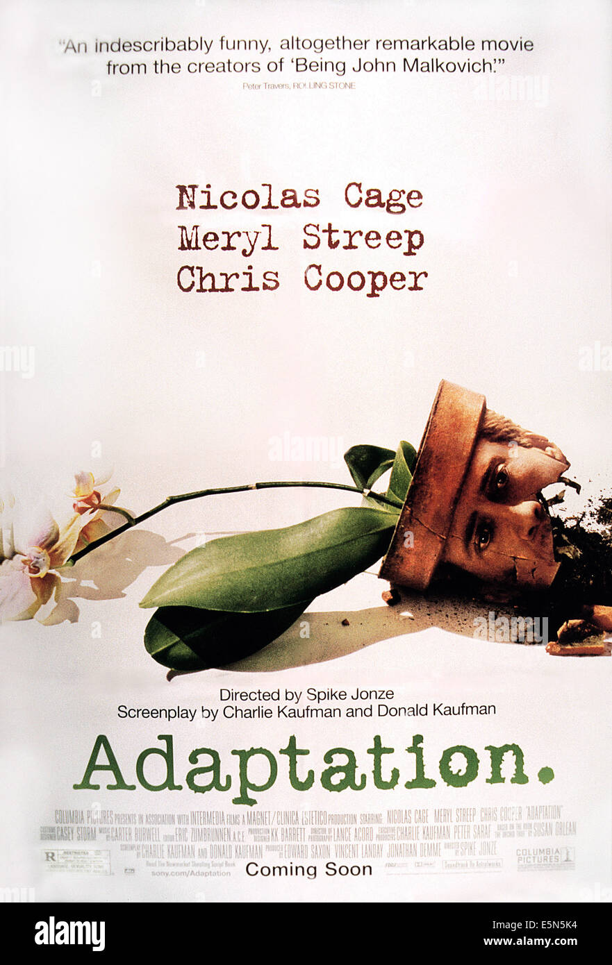 ADAPTATION, poster art, 2002. ©Columbia/courtesy Everett Collection - Stock Image