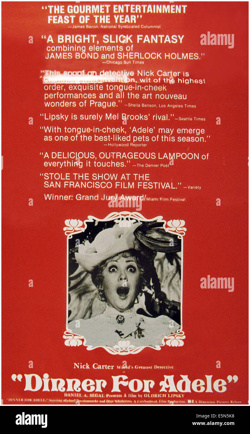 ADELE, (aka ADELA JESTE NEVECERELA), poster, 1978 - Stock Image