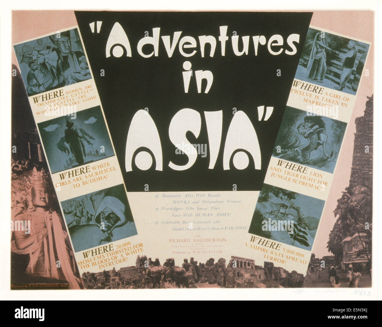 ADVENTURES IN ASIA, 1930s - Stock Image