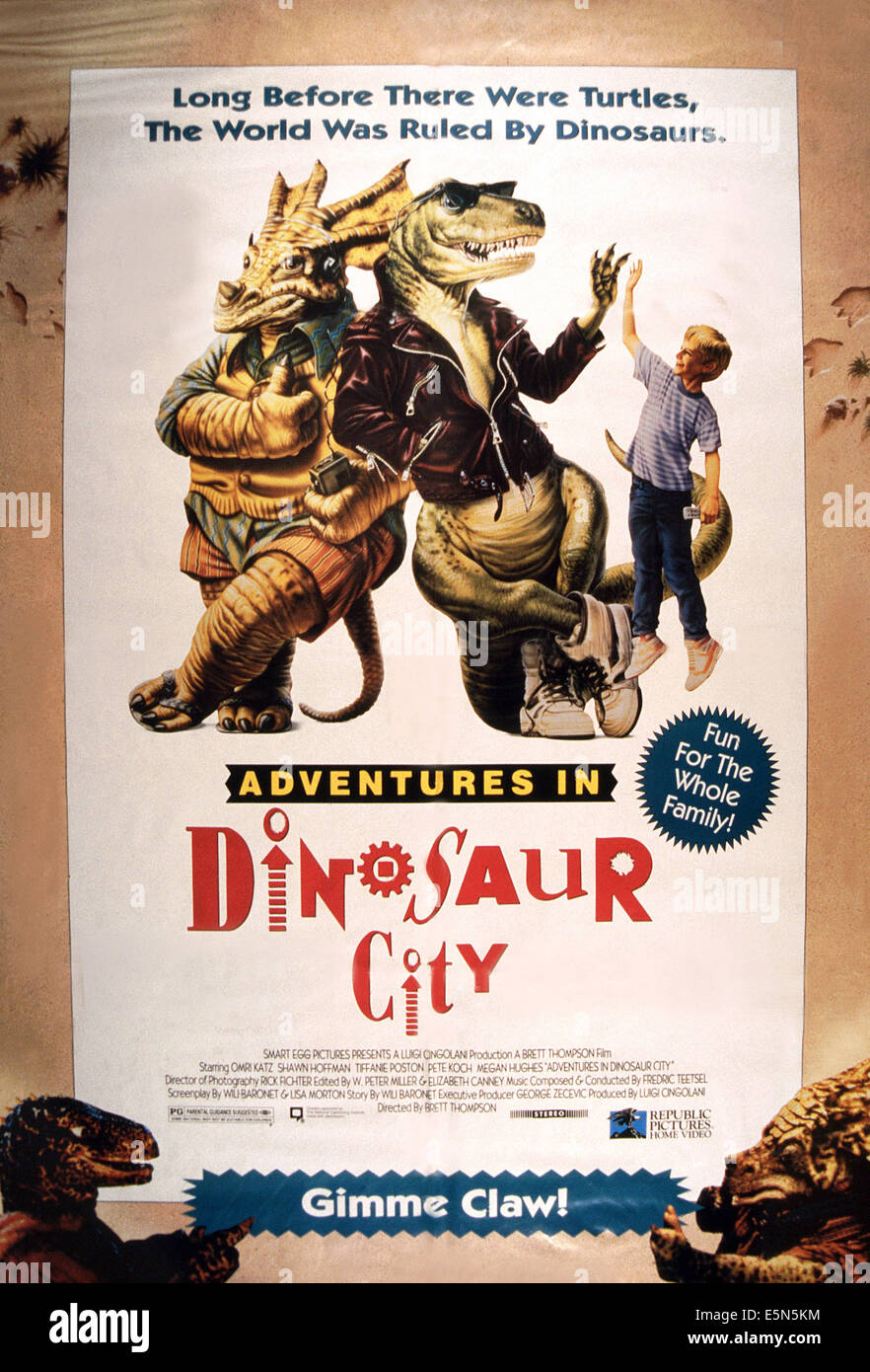 ADVENTURES IN DINOSAUR CITY, 1992 - Stock Image