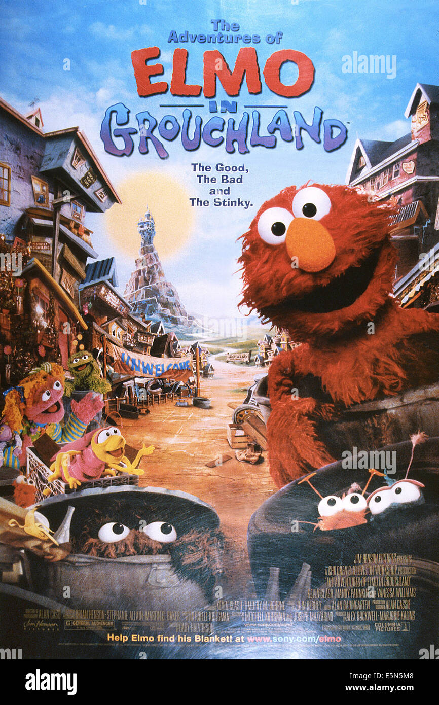 THE ADVENTURES OF ELMO IN GROUCHLAND, Elmo (right), 1999, © Columbia/courtesy Everett Collection - Stock Image