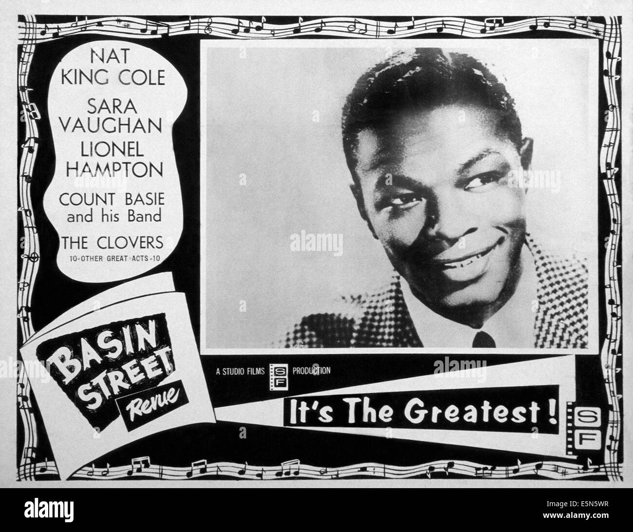 BASIN STREET REVUE, Nat King Cole, 1956 Stock Photo