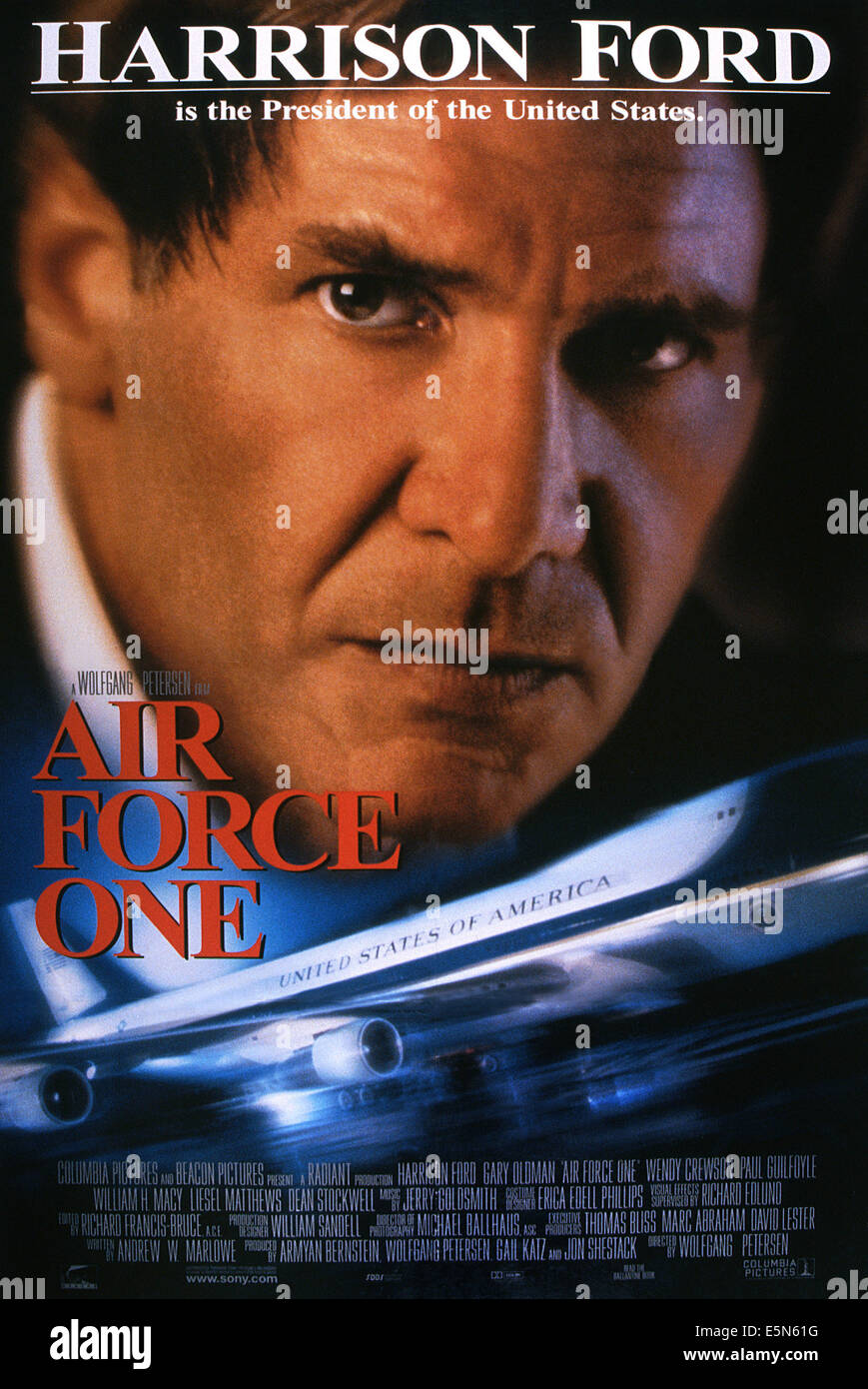 Air Force One Poster Harrison Ford 1997 Columbia