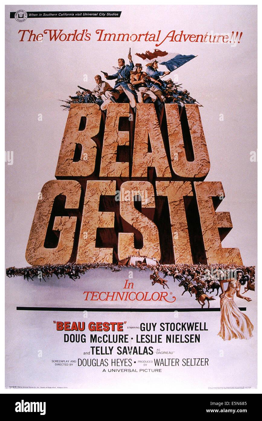BEAU GESTE, 1966 - Stock Image