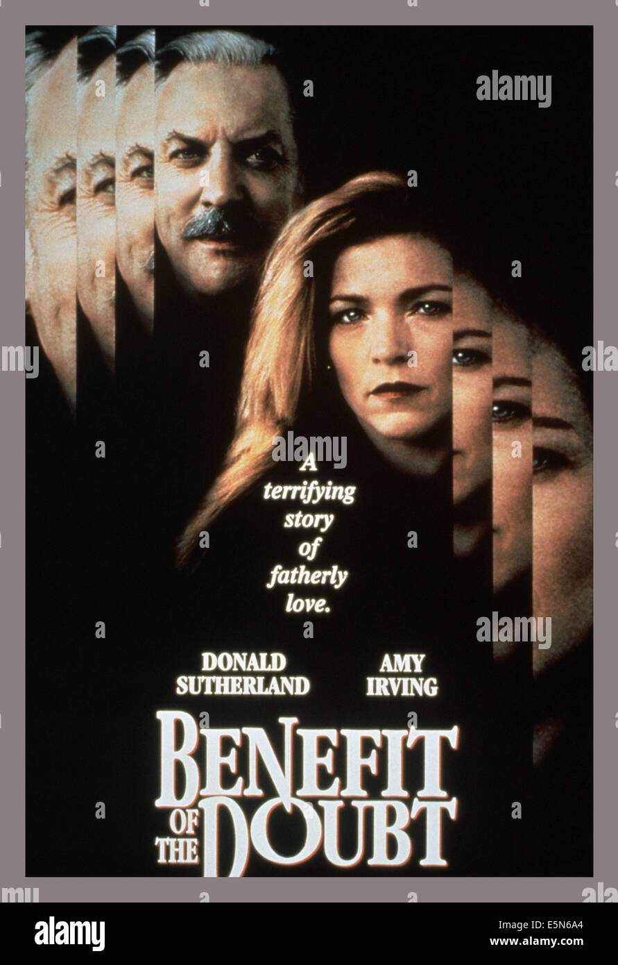 BENEFIT OF THE DOUBT, from left: Donald Sutherland, Amy Irving, 1993, © Miramax/courtesy Everett Collection - Stock Image