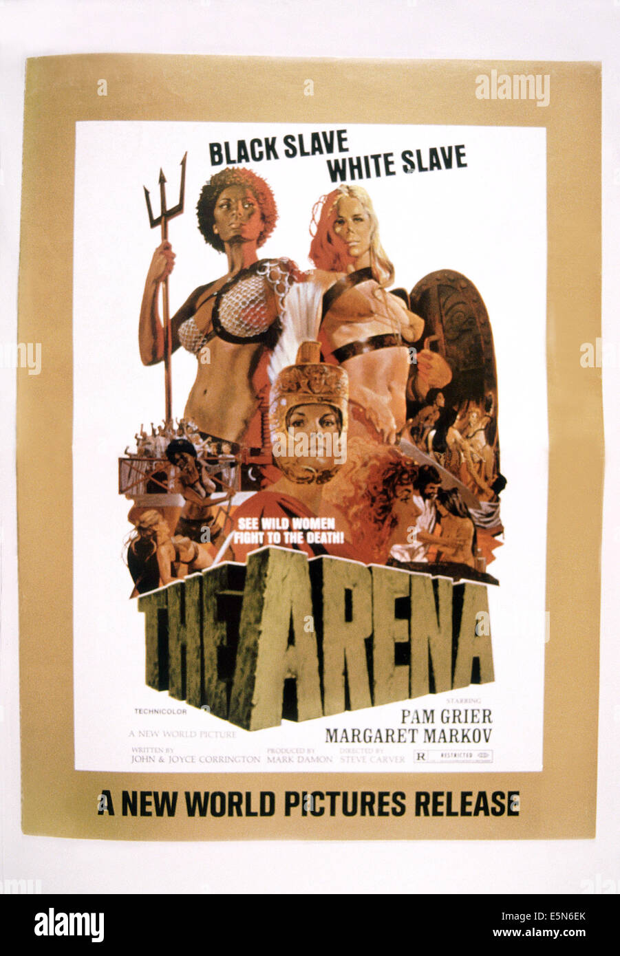 THE ARENA, rear from left: Pam Grier, Margaret Markov, 1974 - Stock Image