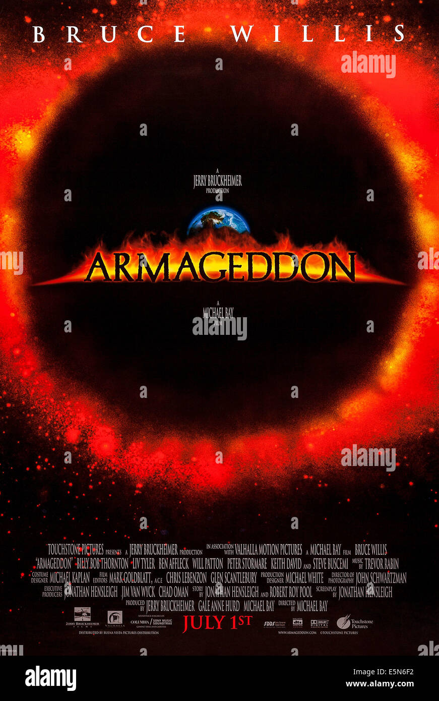 ARMAGEDDON, US advance  poster, 1998. ©Buena Vista Pictures/courtesy Everett Collection - Stock Image