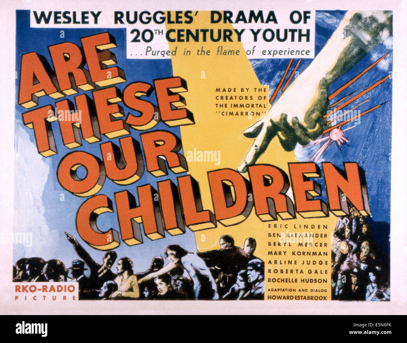 ARE THESE OUR CHILDREN, 1931 - Stock Image
