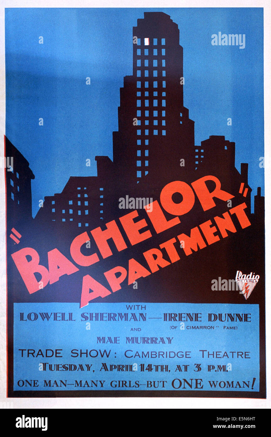 BACHELOR APARTMENT, 1931 - Stock Image