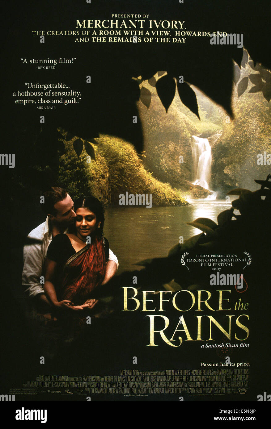 BEFORE THE RAINS, from left: Linus Roache, Nandita Das, 2007, © Roadshow Attractions/courtesy Everett Collection - Stock Image