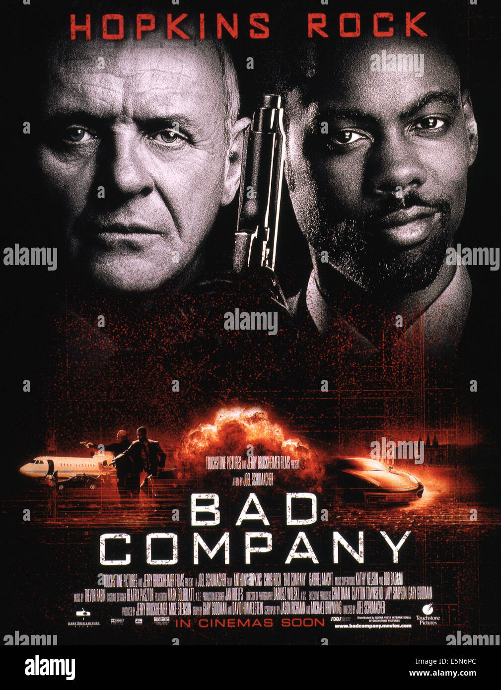 BAD COMPANY Poster From Left Anthony Hopkins Chris Rock 2002