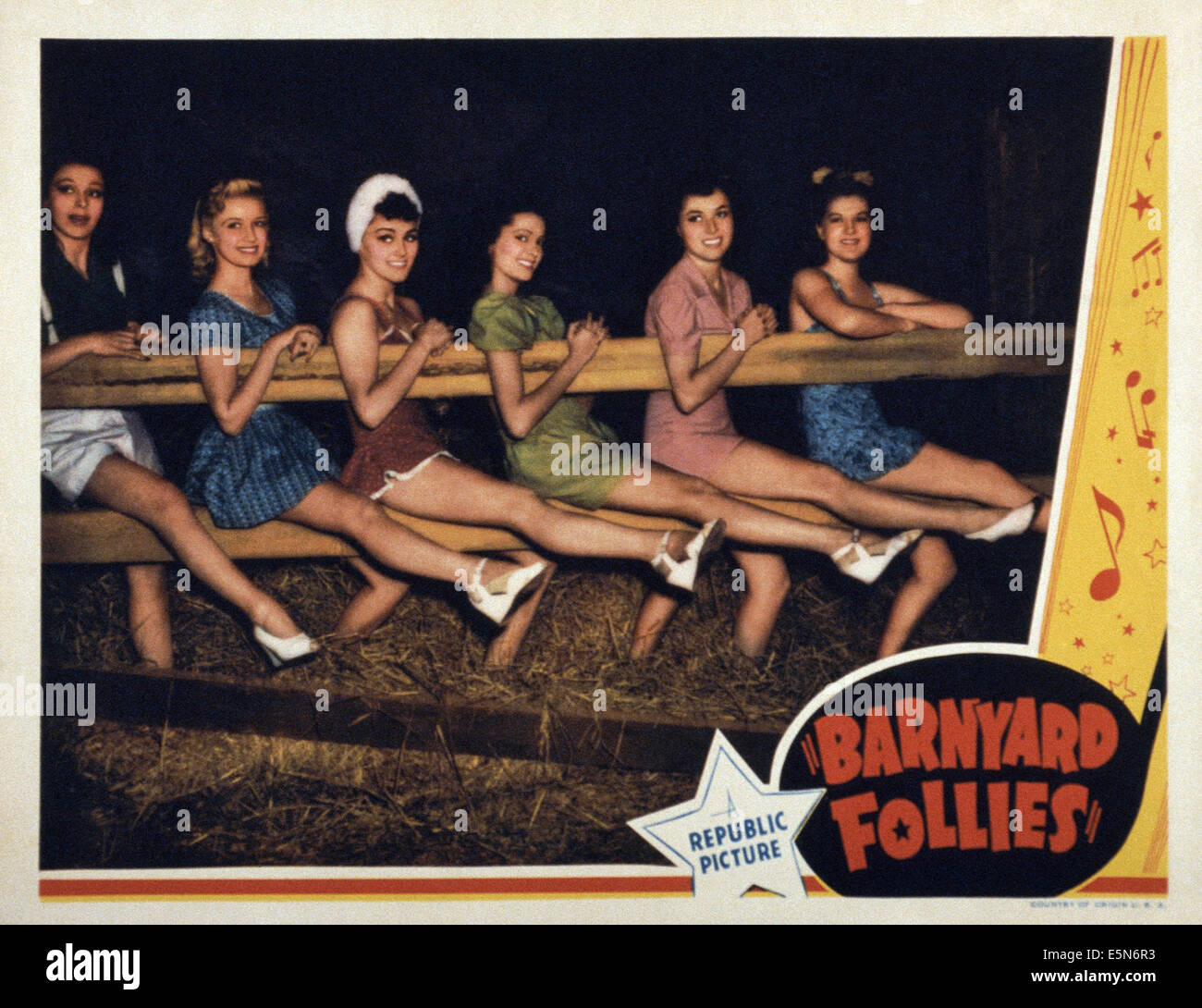 BARNYARD FOLLIES, 1940 - Stock Image