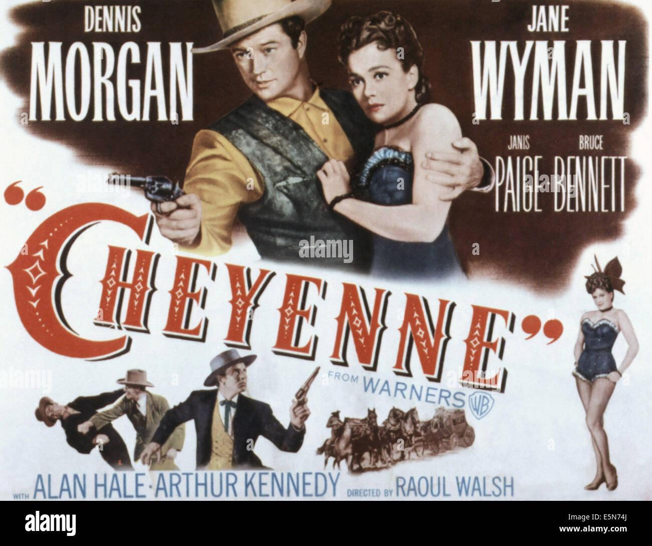 Cheyenne Dennis Morgan vintage movie poster print