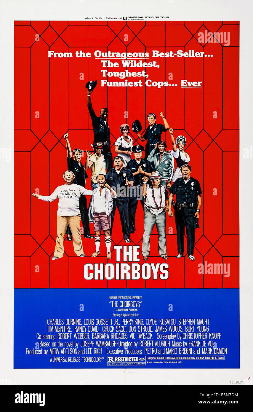 THE CHOIRBOYS, poster art, 1977. - Stock Image