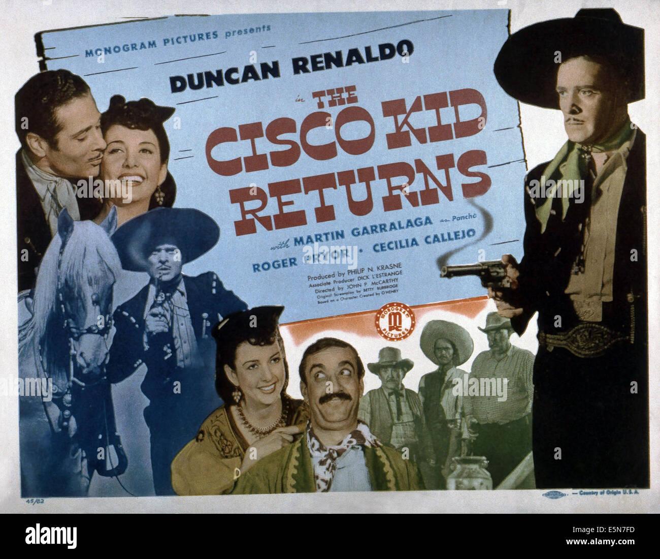 THE CISCO KID RETURNS From Left Duncan Renaldo Cecilia Callejo