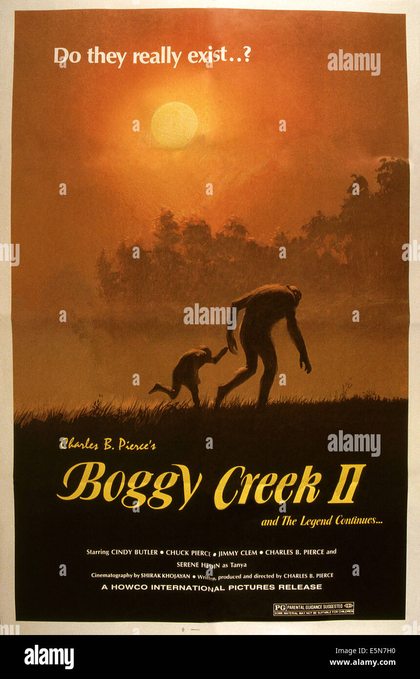 BOGGY CREEK II: AND THE LEGEND CONTINUES, 1985, © Howco International/courtesy Everett Collection - Stock Image