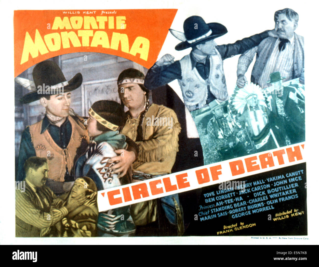 CIRCLE OF DEATH, Montie Montana, Yakima Canutt, Chief Standing Bear, 1935 - Stock Image