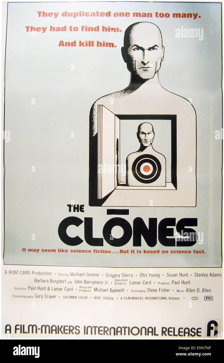 THE CLONES, 1973 - Stock Image