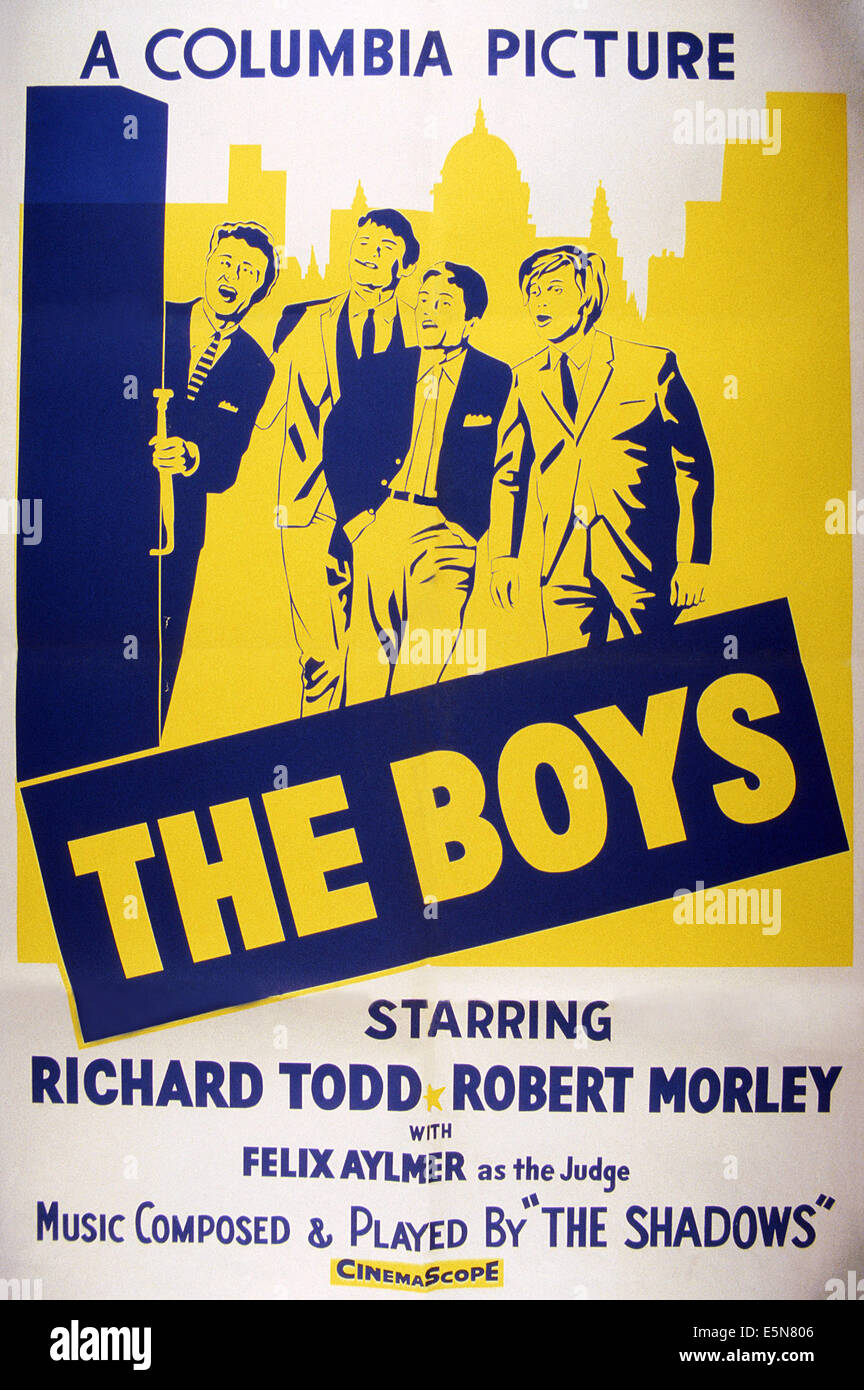 THE BOYS, 1962 - Stock Image