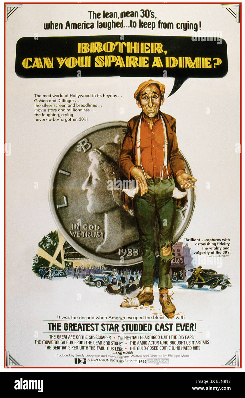 BROTHER, CAN YOU SPARE A DIME?, U.S. poster, 1975 - Stock Image
