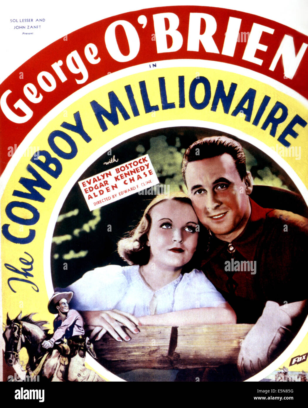 THE COWBOY MILLIONAIRE, Evalyn Bostock, George O'Brien, 1935 - Stock Image