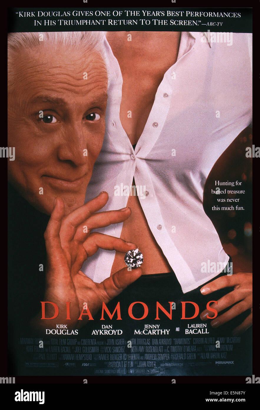 DIAMONDS, U.S. poster, Kirk Douglas, 1999. ©Miramax/Courtesy Everett Collection Stock Photo