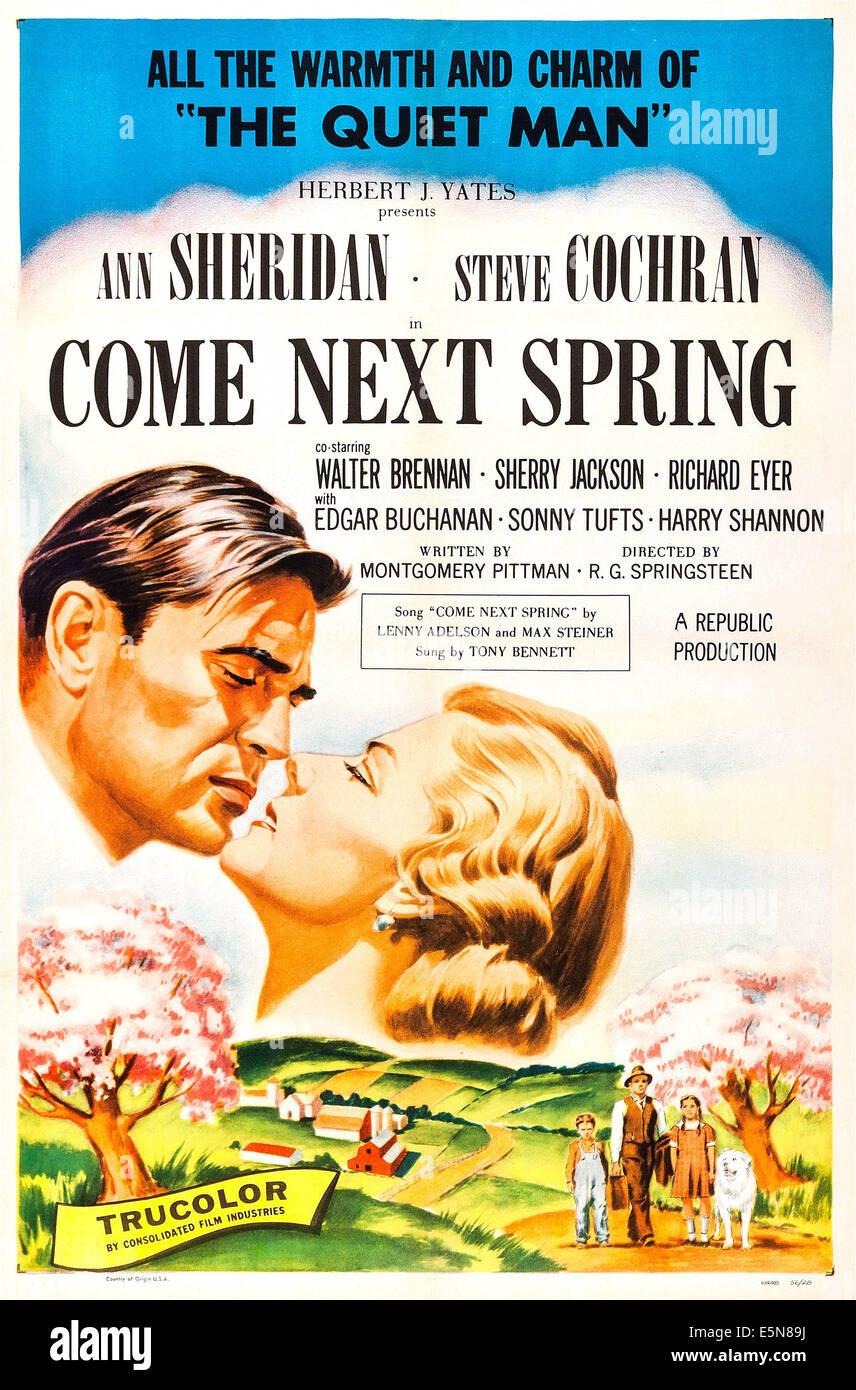 COME NEXT SPRING, Steve Cochran, Ann Sheridan, 1956 - Stock Image