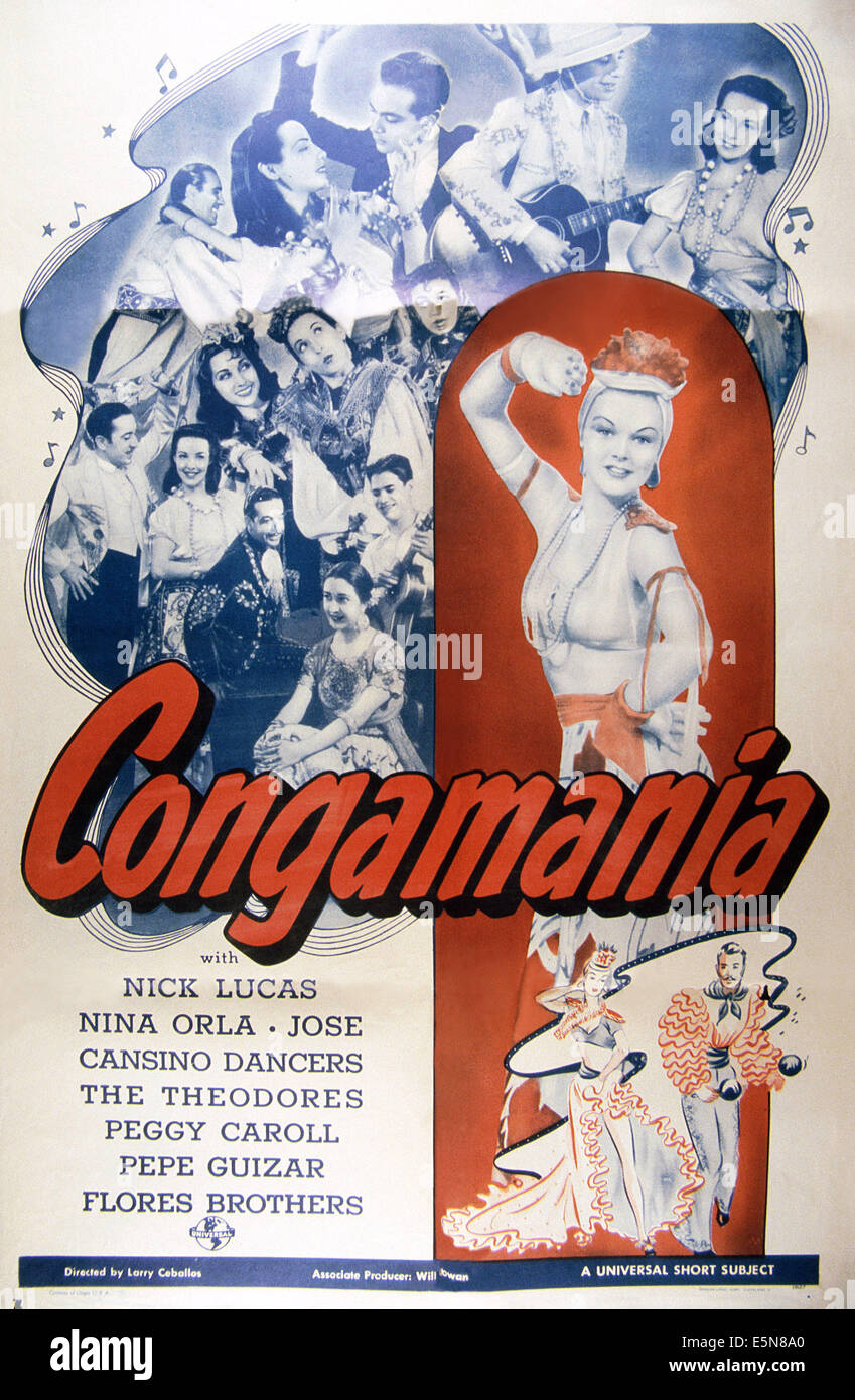CONGAMANIA, 1940 - Stock Image