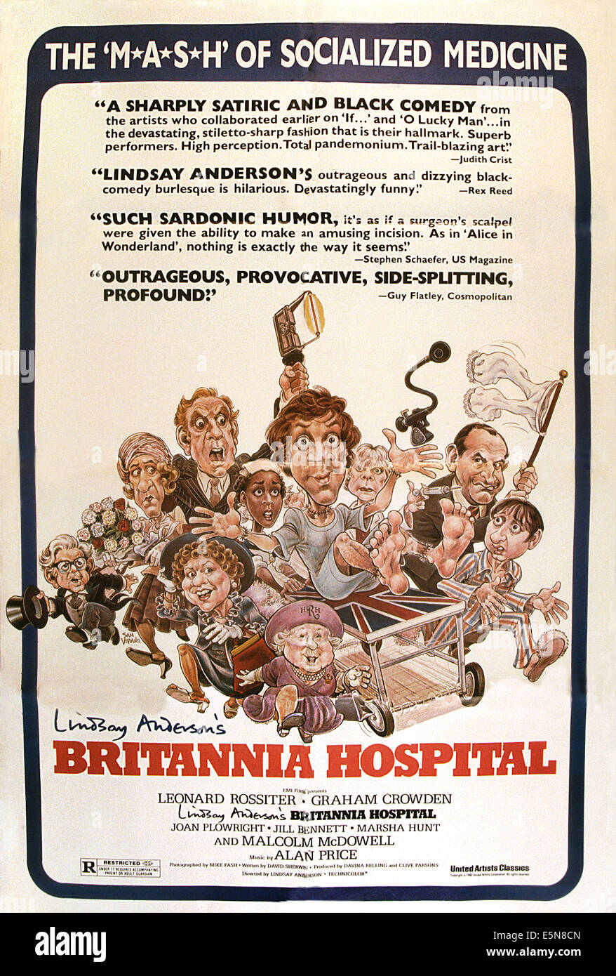 BRITANNIA HOSPITAL, 1982, © United Artists/courtesy Everett Collection - Stock Image