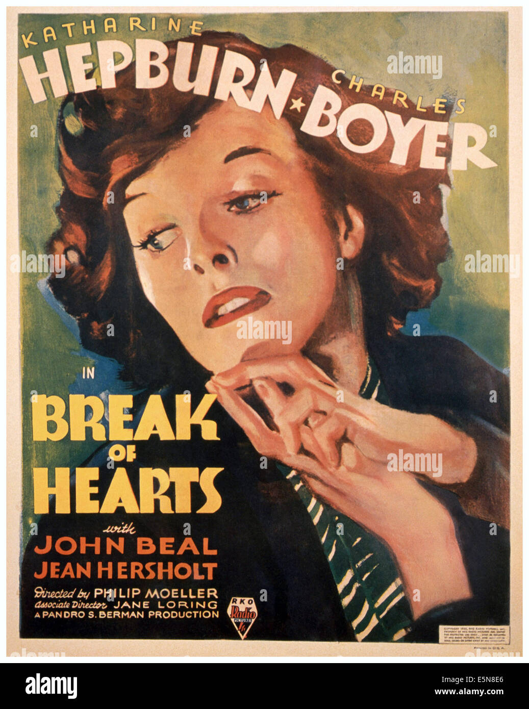 BREAK OF HEARTS, Katharine Hepburn, 1935 - Stock Image