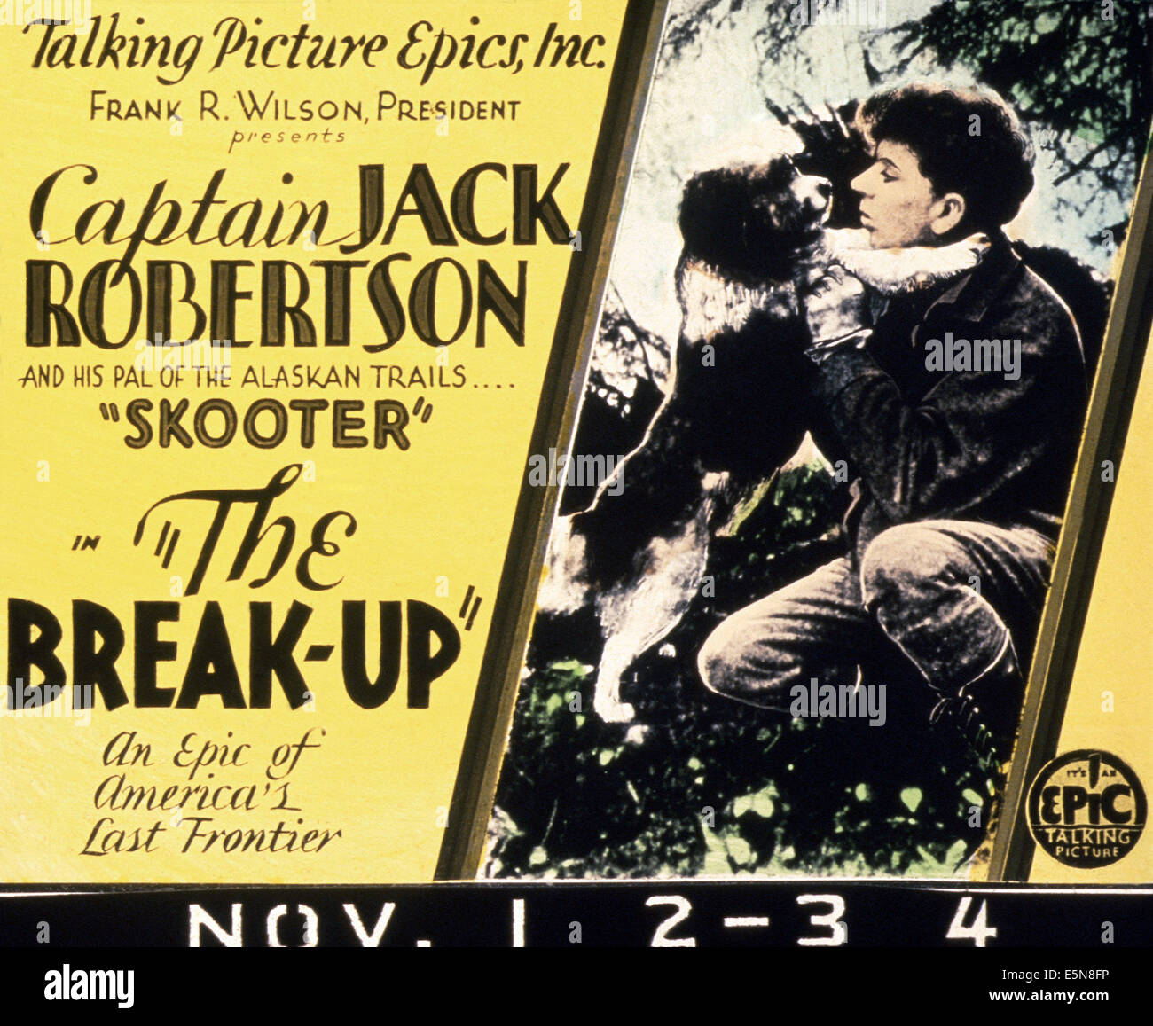 THE BREAK-UP, 1930 - Stock Image