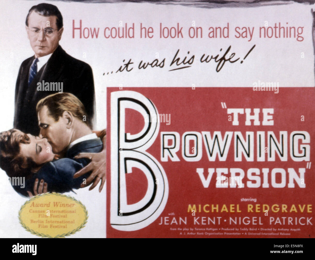THE BROWNING VERSION, Michael Redgrave, 1951. Stock Photo