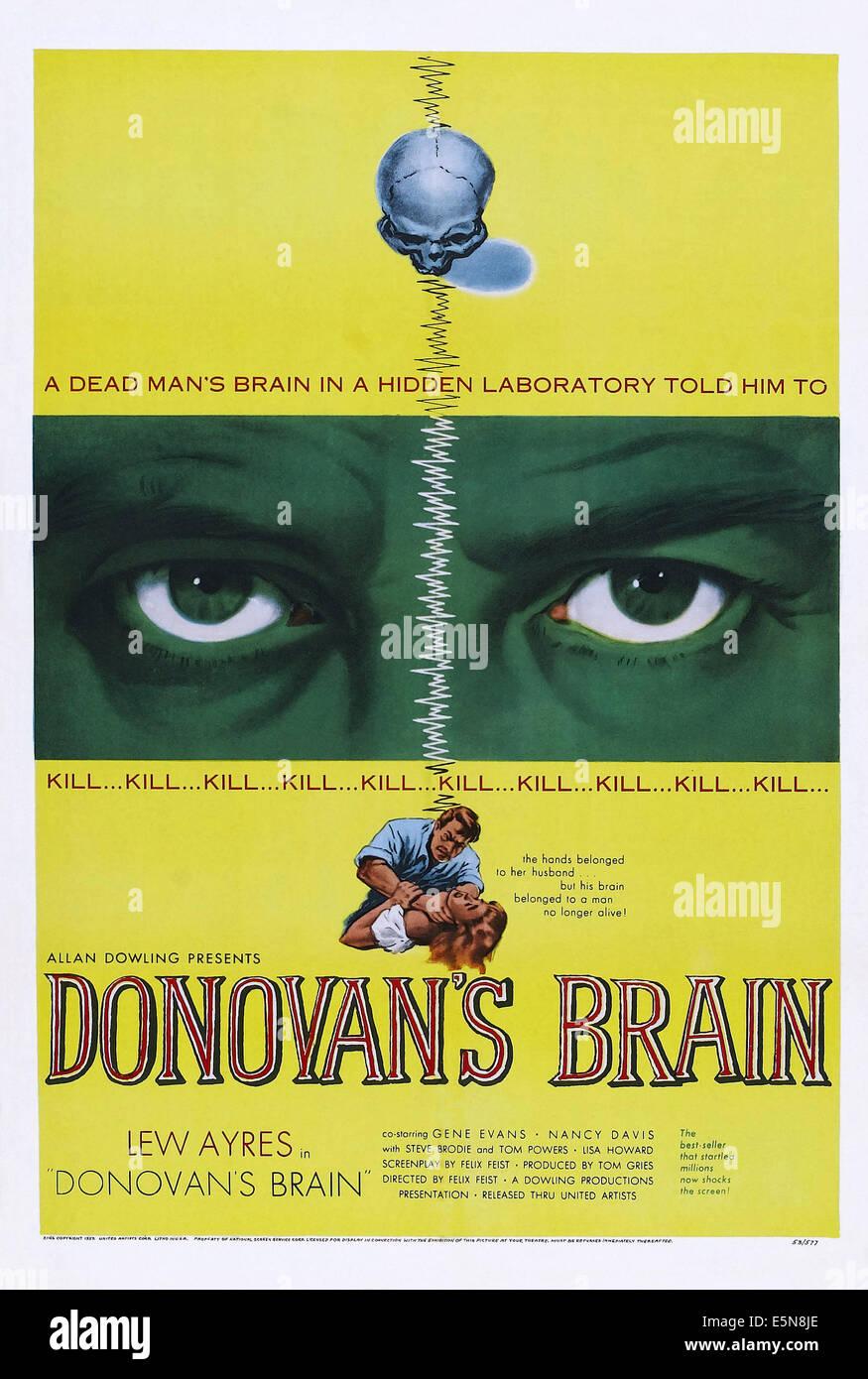 DONOVAN'S BRAIN, 1953 Stock Photo