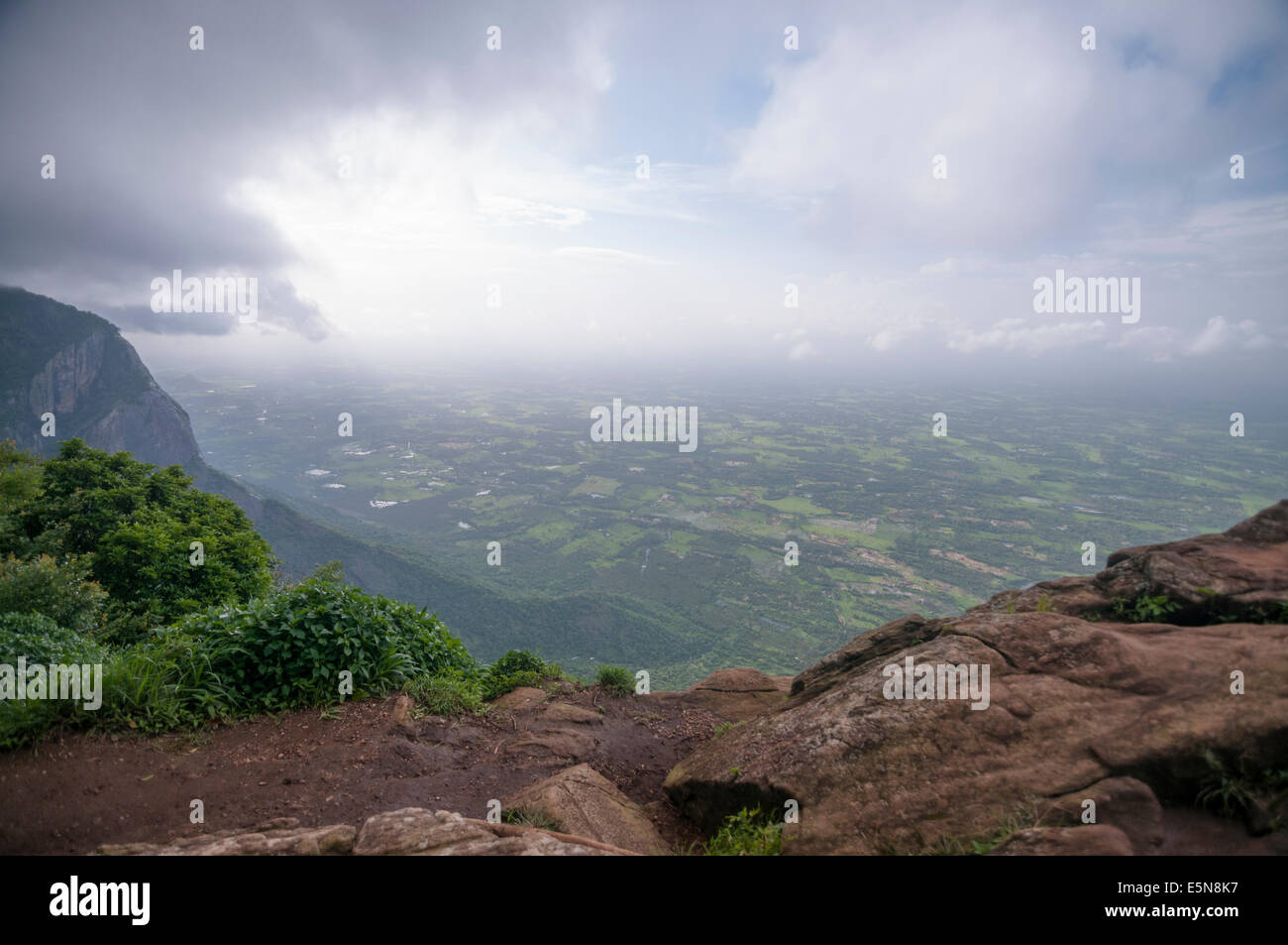 Aerial view from Neliyampathi, hill station in kerala - Stock Image