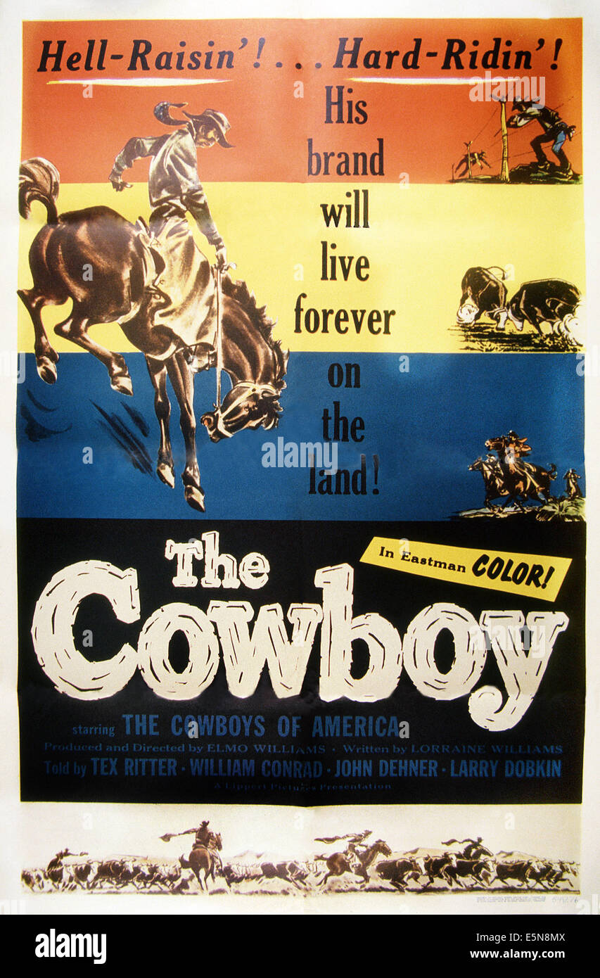 THE COWBOY, 1954 - Stock Image