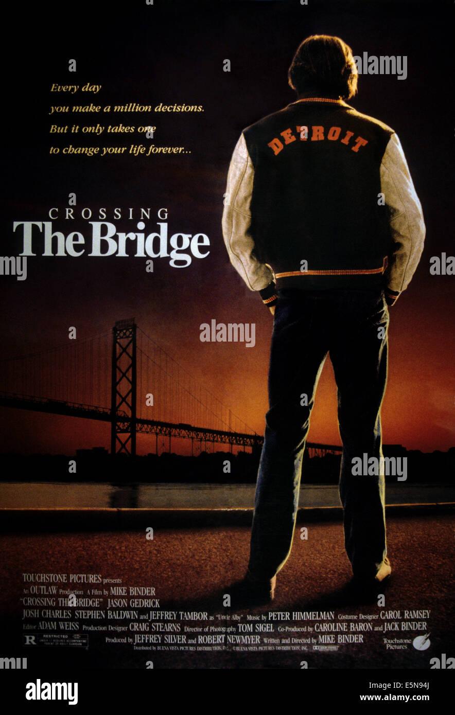 CROSSING THE BRIDGE, 1992 - Stock Image