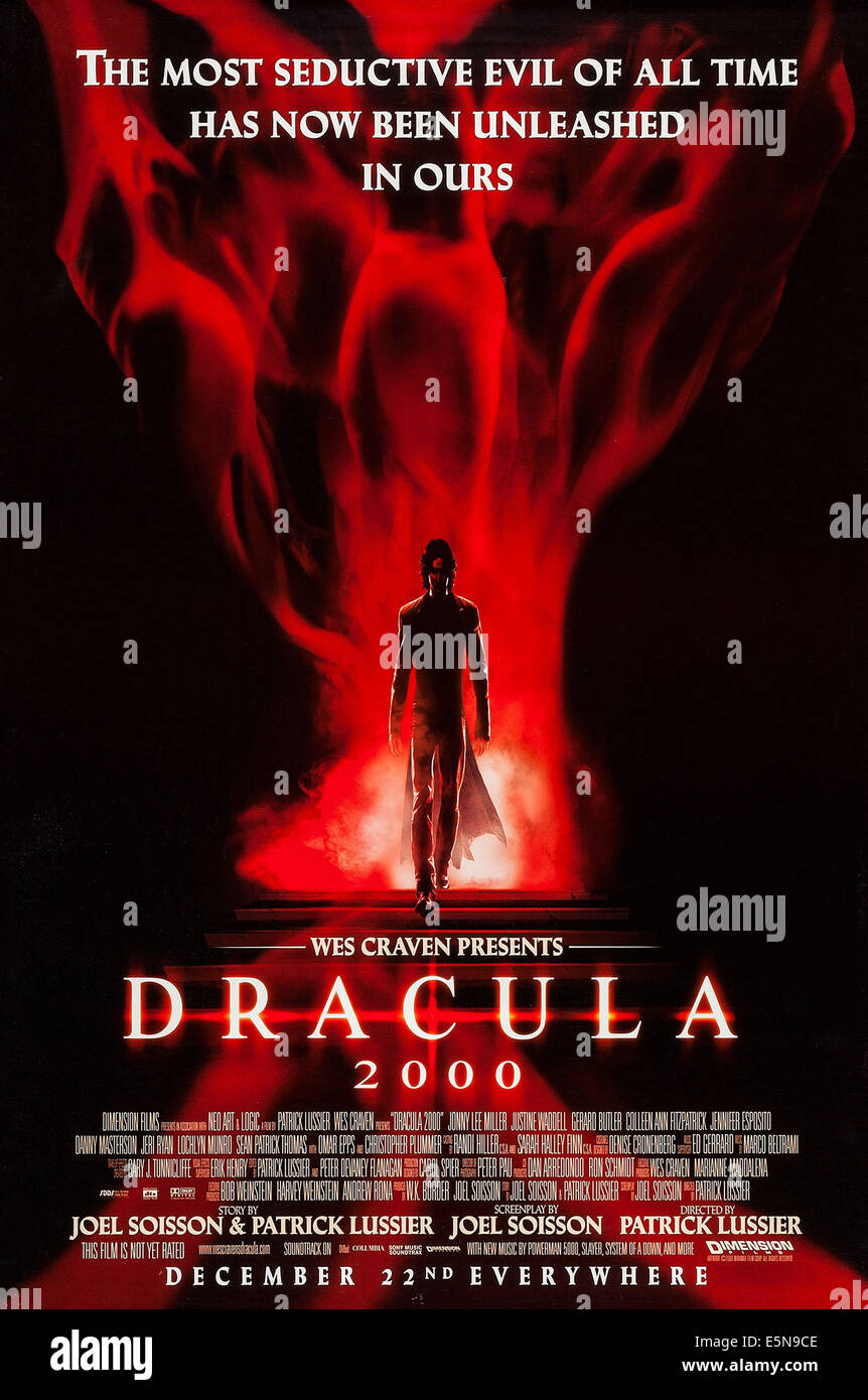 DRACULA 2000, US advance poster art, 2000, © Dimension Films/courtesy Everett Collection - Stock Image