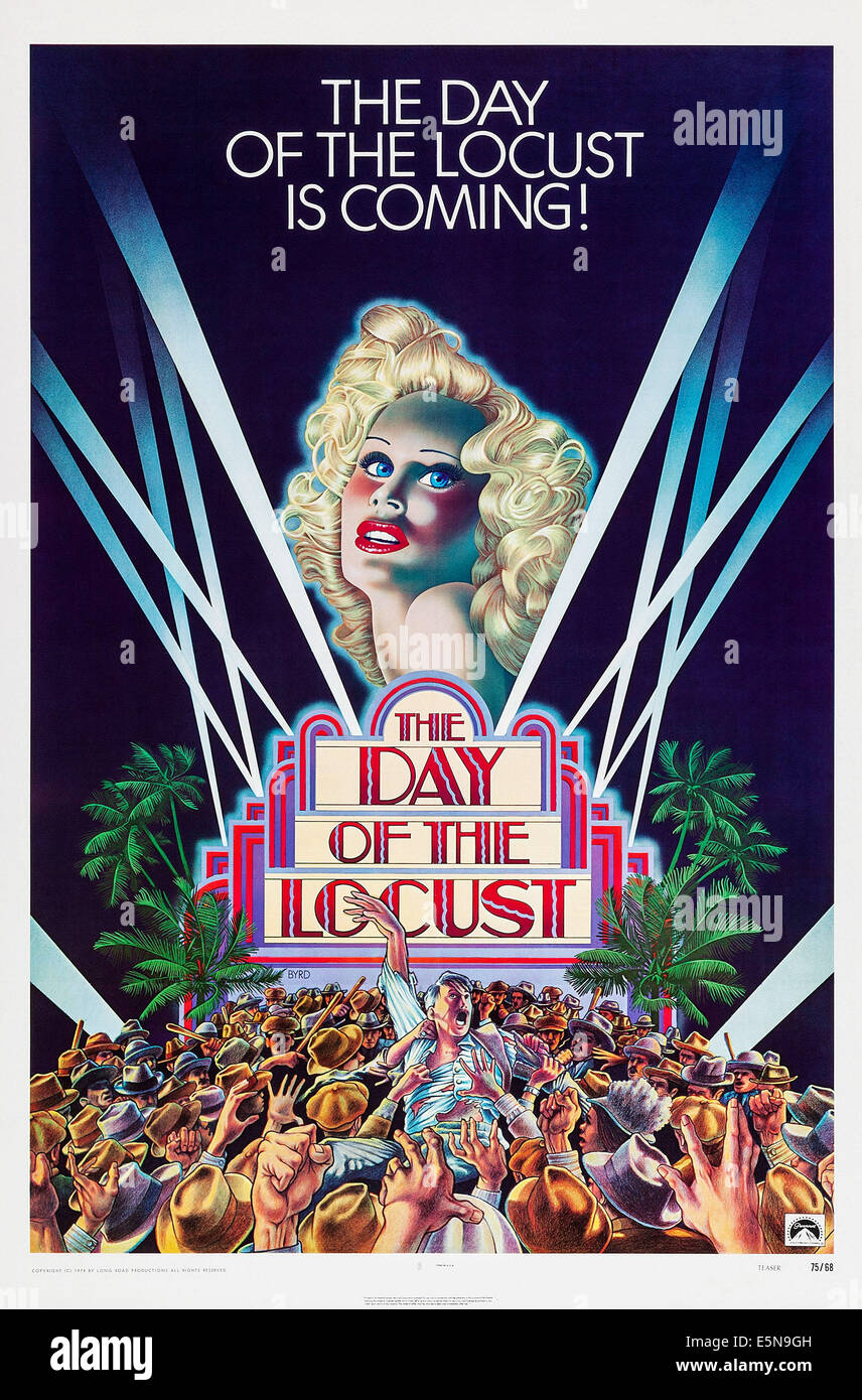 THE DAY OF THE LOCUST, US advance poster, Karen Black, 1975 - Stock Image