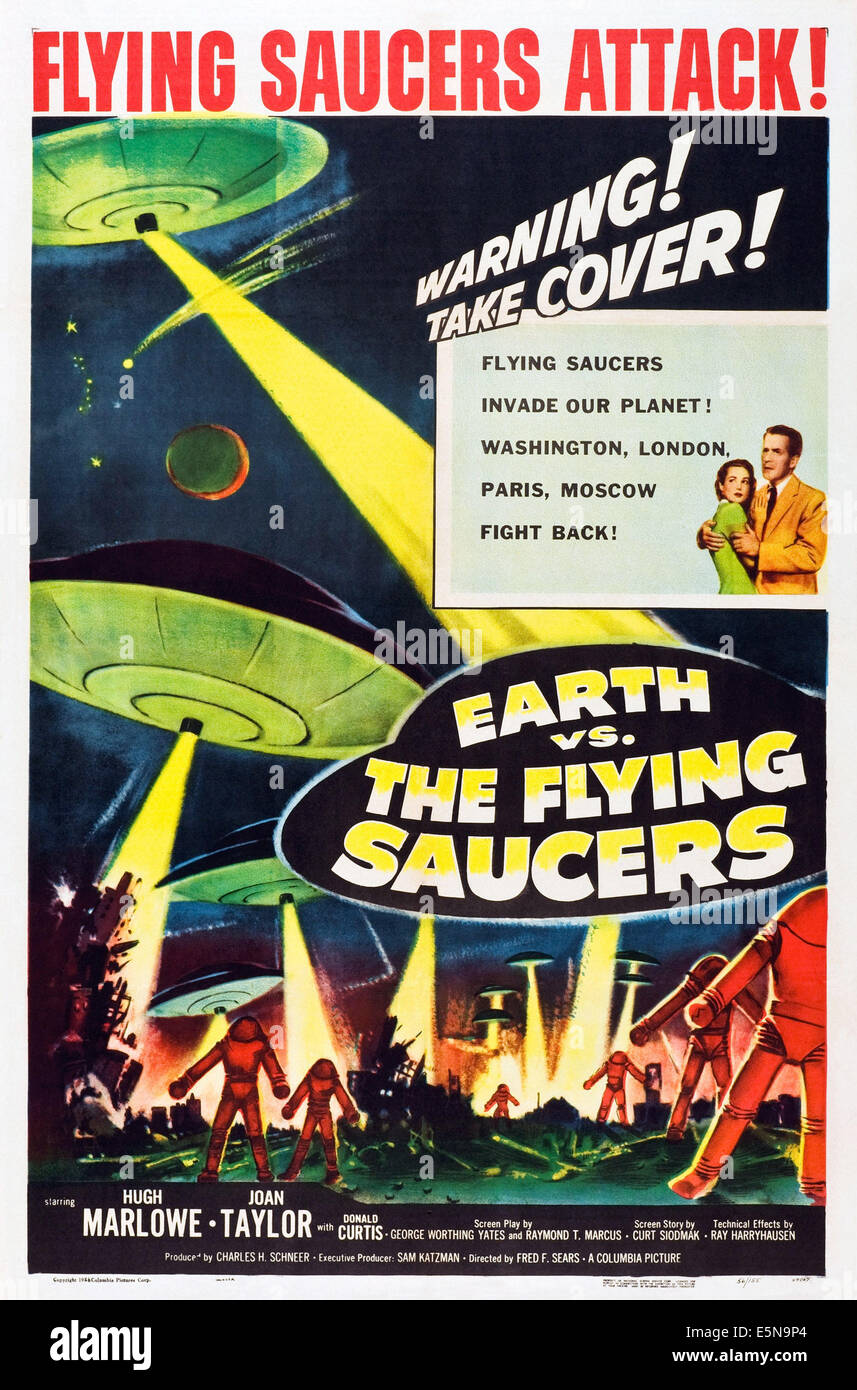 EARTH VS. THE FLYING SAUCERS, 1956 - Stock Image