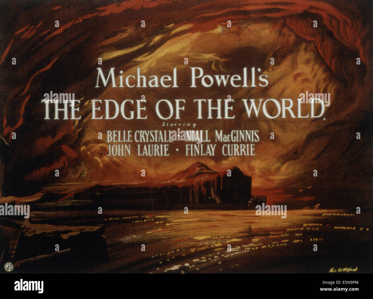 THE EDGE OF THE WORLD, 1937 - Stock Image