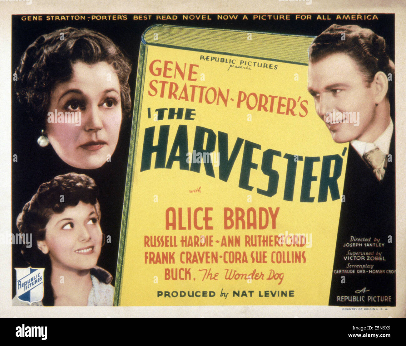 THE HARVESTER, top from left: Alice Brady, Russell Hardie, Ann Rutherford (bottom), 1936 - Stock Image