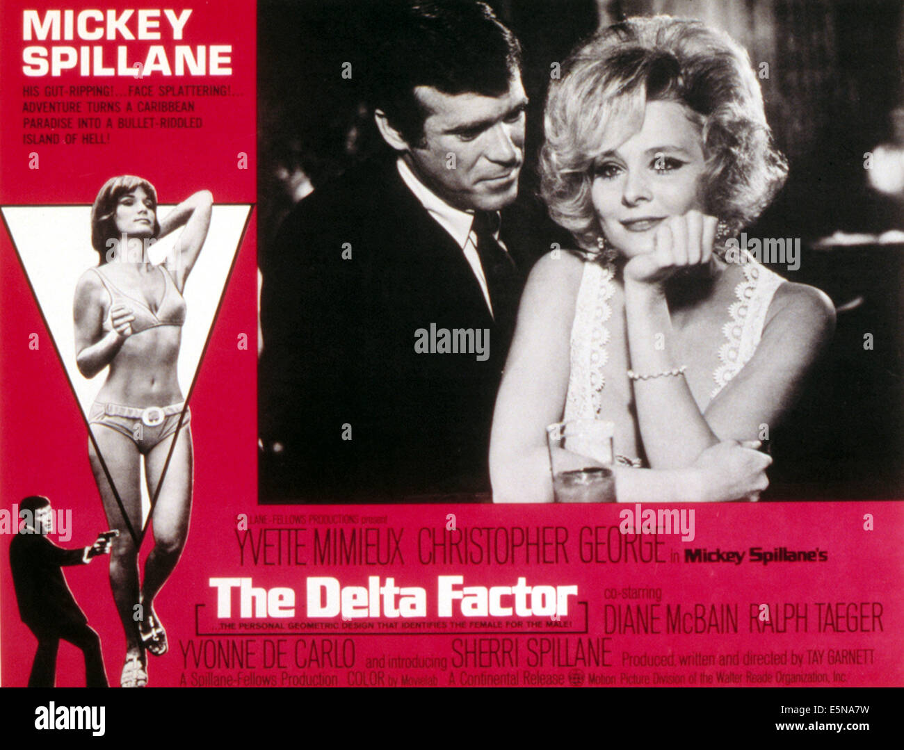 DELTA FACTOR, Christopher George, Yvette Mimieux, 1971. - Stock Image