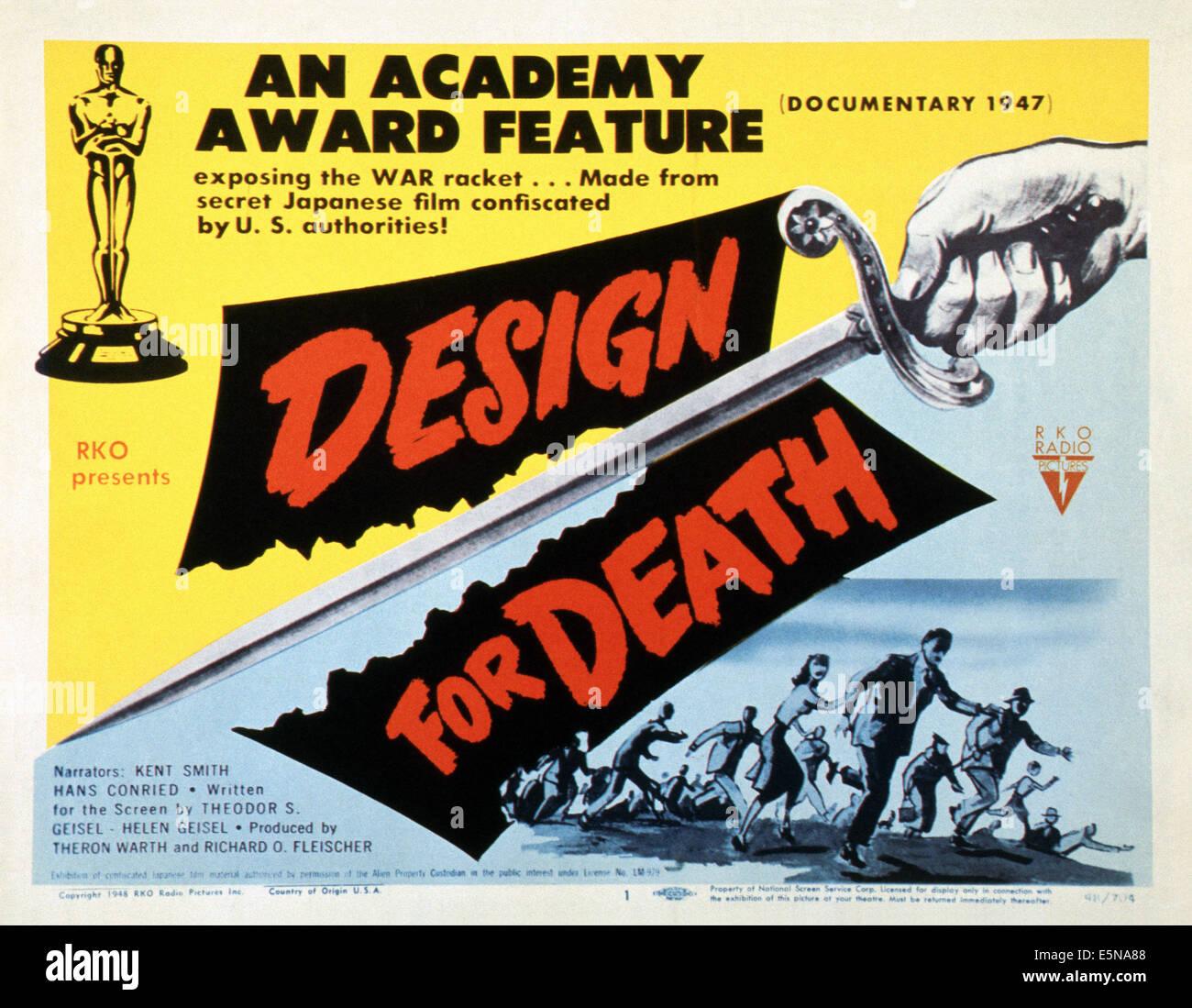 DESIGN FOR DEATH, 1947 Stock P...