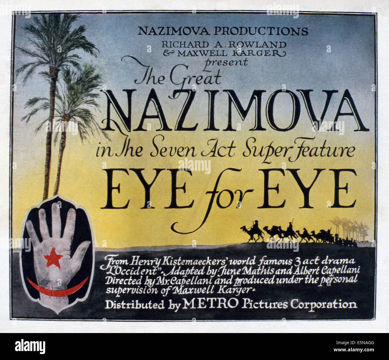 EYE FOR EYE, 1918 - Stock Image