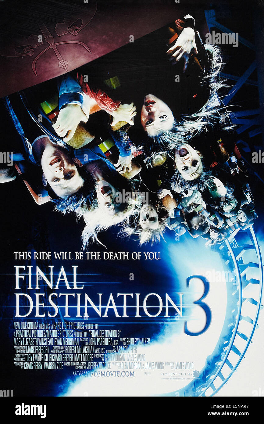 FINAL DESTINATION 3, US poster art, 2006, © New Line/courtesy Everett Collection - Stock Image