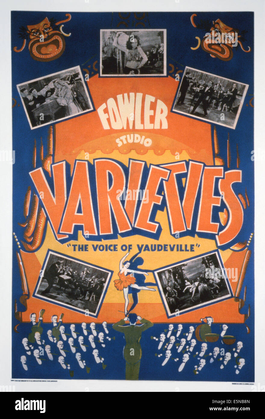 FOWLER STUDIO VARIETIES: THE VOICE OF VAUDEVILLE, US poster art, ca. 1930s - Stock Image