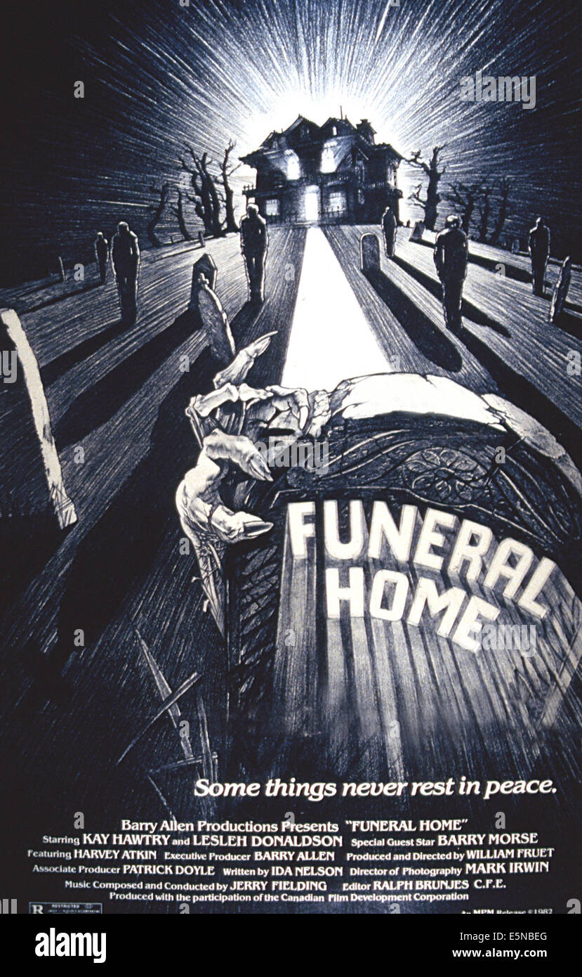 FUNERAL HOME, 1980 - Stock Image
