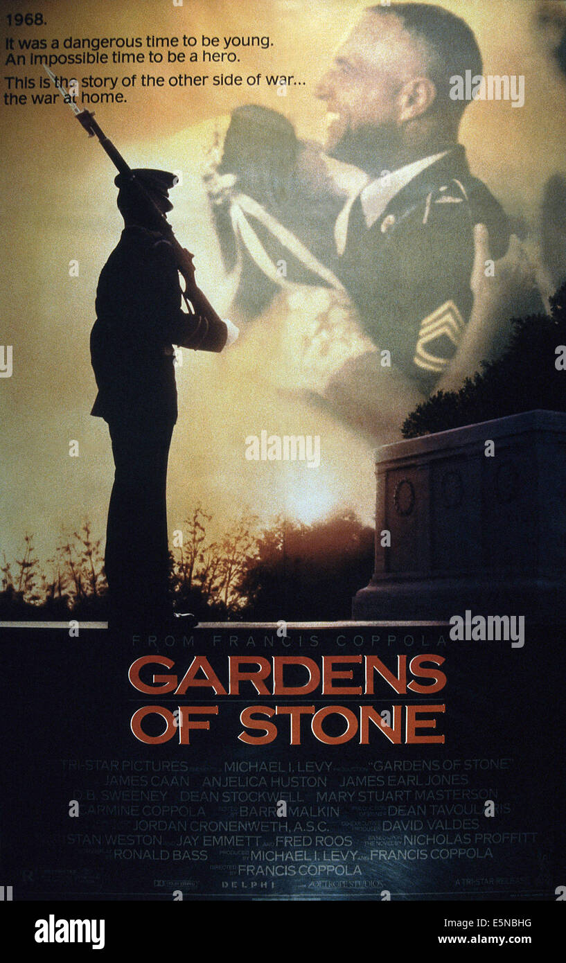 GARDENS OF STONE, embracing from left: Mary Stuart Masterson, James Caan, 1987, © TriStar/courtesy Everett Collection Stock Photo