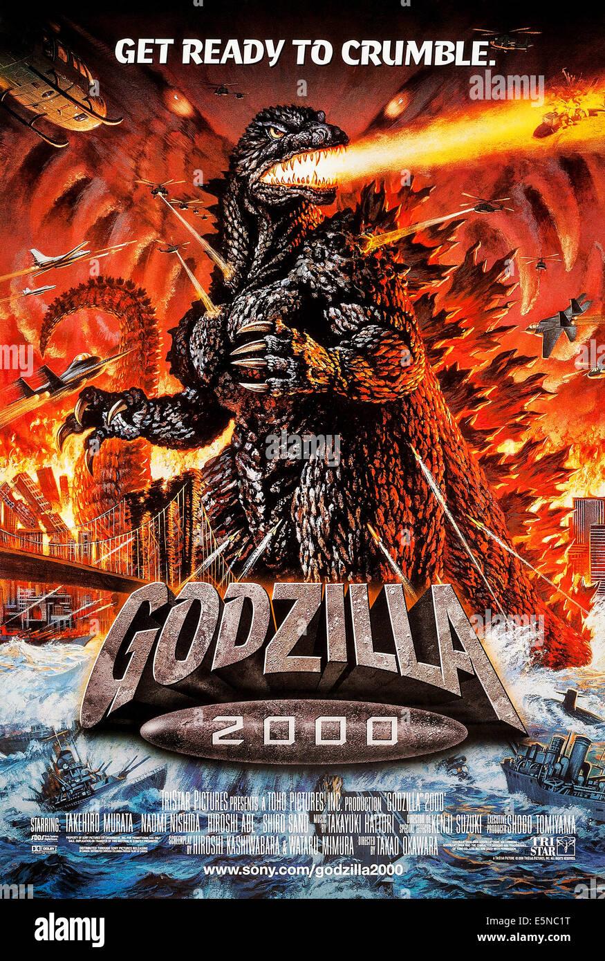 GODZILLA 2000, (aka GOJIRA NI-SEN MIRENIAMU), US poster, 1999, © TriStar/courtesy Everett Collection - Stock Image