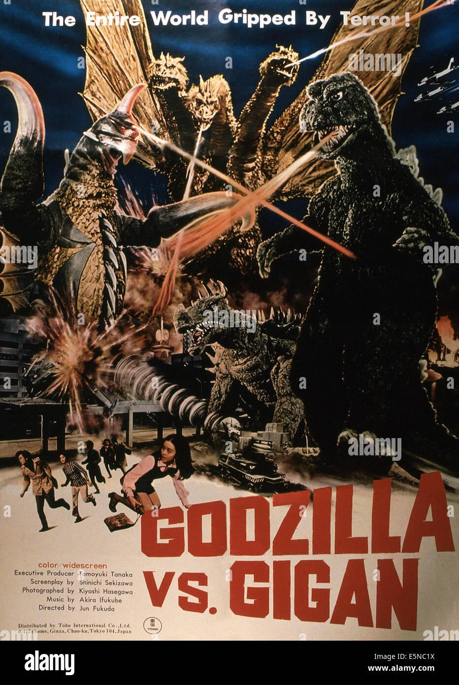 GODZILLA VS. GIGAN, (aka GODZILLA ON MONSTER ISLAND, aka CHIKYU KOGEKI MEIREI: GOJIRA TAI GAIGAN), 1972 - Stock Image